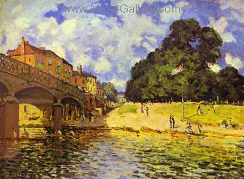 SIS0014 - Alfred Sisley Impressionist Art Reproduction Painting