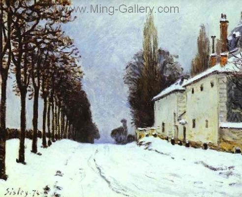 SIS0019 - Alfred Sisley Impressionist Art Reproduction Painting
