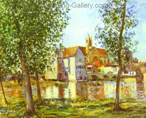 SIS0022 - Alfred Sisley Impressionist Art Reproduction Painting
