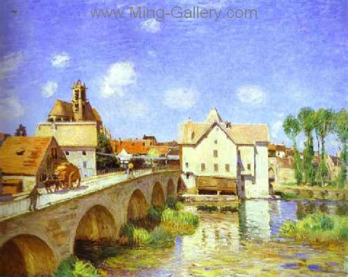 SIS0025 - Alfred Sisley Impressionist Art Reproduction Painting
