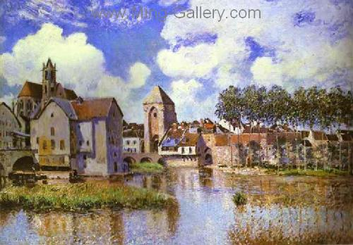 SIS0031 - Alfred Sisley Impressionist Art Reproduction Painting