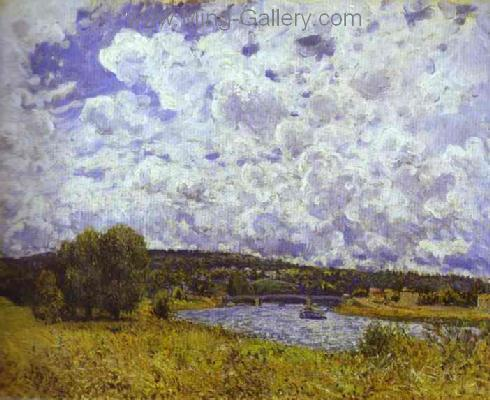 SIS0037 - Alfred Sisley Impressionist Art Reproduction Painting
