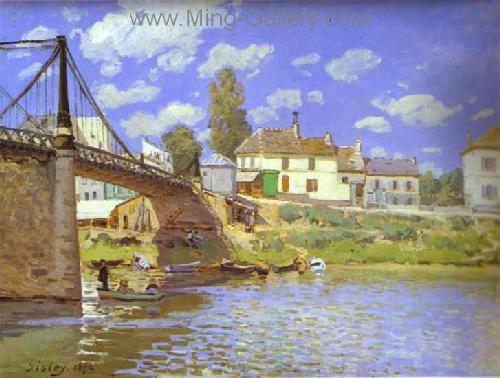 SIS0039 - Alfred Sisley Impressionist Art Reproduction Painting