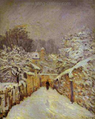 SIS0042 - Alfred Sisley Impressionist Art Reproduction Painting