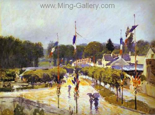 SIS0044 - Alfred Sisley Impressionist Art Reproduction Painting