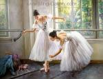Painting of Ballet Dancers Art for Sale