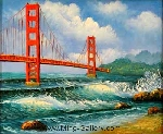 Oil Painting of San Francisco