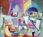 Hofmann, HOF0025 Hans Hofmann Oil Painting Reproduction