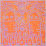 Haring, Hari13 Keith Haring Art Reproduction Painting