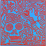 Haring, Hari14 Keith Haring Art Reproduction Painting