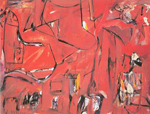 De Kooning, Koo16 Willem De Kooning Art Reproduction Painting