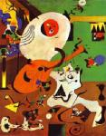 Miro, MIR0008 Miro Art Reproduction Painting