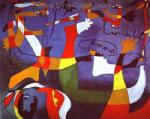 Miro, MIR0028 Miro Art Reproduction Painting