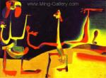 Miro, MIR0036 Miro Art Reproduction Painting