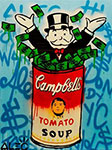 Monopoly, Mono21 Alec Monopoly Art Reproduction Painting