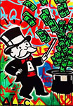 Monopoly, Mono27 Alec Monopoly Art Reproduction Painting