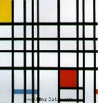 Mondrian, PMO0003 Mondrian Art Reproduction
