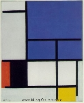 Mondrian, PMO0006 Mondrian Art Reproduction