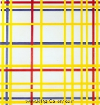 Mondrian, PMO0009 Mondrian Art Reproduction