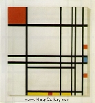 Mondrian, PMO0013 Mondrian Art Reproduction