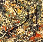 Pollock, POL0005 Abstract Expressionist Art Reproduction