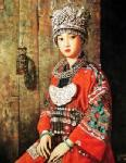 PRT0022 - OilonCanvas Painting of Oriental Lady for Sale