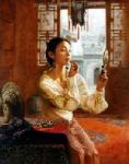 PRT0040 - OilonCanvas Painting of Oriental Lady for Sale