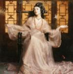 PRT0041 - OilonCanvas Painting of Oriental Lady for Sale