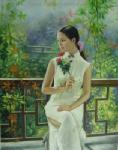 PRT0063 - OilonCanvas Painting of Oriental Lady for Sale