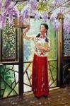 PRT0084 - OilonCanvas Painting of Oriental Lady for Sale