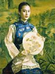 PRT0090 - OilonCanvas Painting of Oriental Lady for Sale