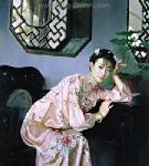 PRT0094 - OilonCanvas Painting of Oriental Lady for Sale