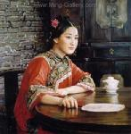 PRT0095 - OilonCanvas Painting of Oriental Lady for Sale