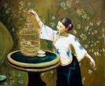 PRT0124 - OilonCanvas Painting of Oriental Lady for Sale