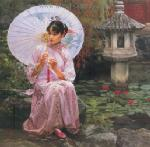 PRT0172 - OilonCanvas Painting of Oriental Lady for Sale
