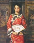 PRT0180 - OilonCanvas Painting of Oriental Lady for Sale