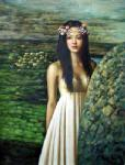 PRT0188 - OilonCanvas Painting of Oriental Lady for Sale