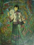 PRT0222 - OilonCanvas Painting of Oriental Lady for Sale