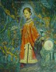 PRT0223 - OilonCanvas Painting of Oriental Lady for Sale