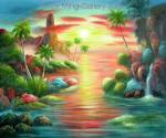 Tropical Seascape Oil Painting for Sale
