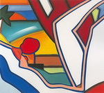 Wesselmann, Wes3 Wesselmann Art Reproduction Painting