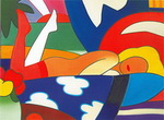 Wesselmann, Wes9 Wesselmann Art Reproduction Painting